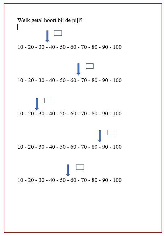 Knipsel welk getal hoort bij de pijl