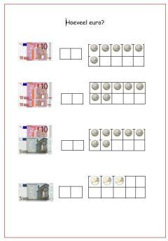 Knipsel losse euro's en tientallen