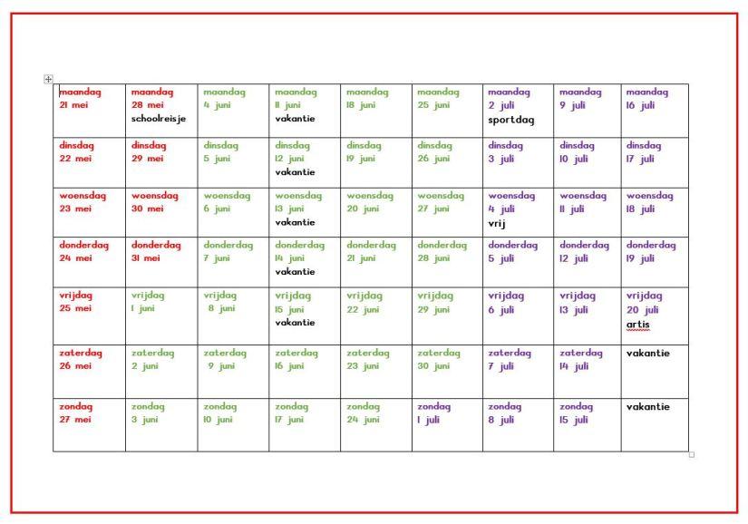Knipsel kalender kinderen