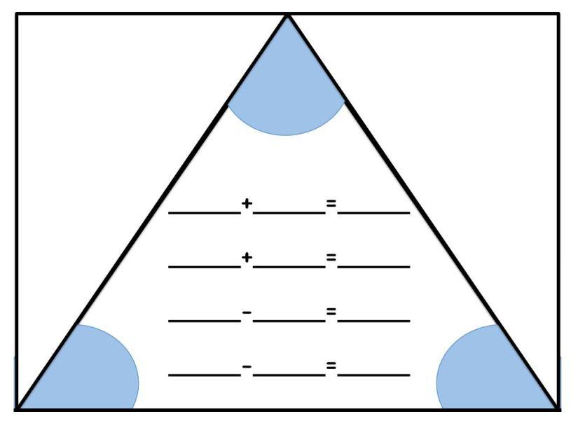 Knipsel splitsdriehoek